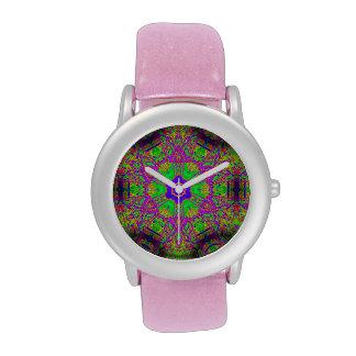 estrella maravillosa del seis-punto del hippie relojes de pulsera