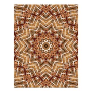 """Estrella marrón clara del caleidoscopio folleto 8.5"""" x 11"""""""
