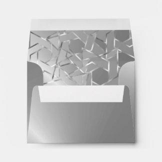 Estrella metálica de la mirada de RSVP de la plata Sobre