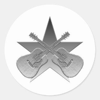 Estrella metálica de Martin D28 Etiqueta Redonda