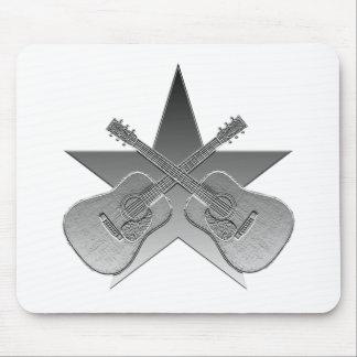 Estrella metálica de Martin D28 Mouse Pad