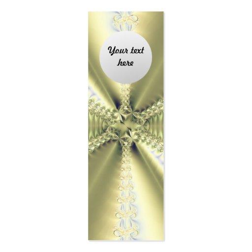 Estrella metálica tarjetas de visita mini