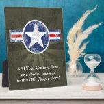 Estrella militar de los E.E.U.U. del vintage patri Placas De Plastico
