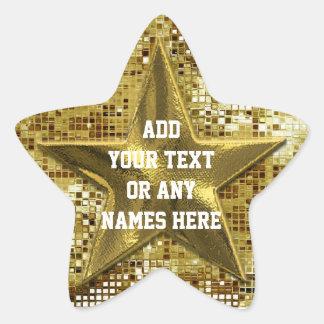 Estrella modificada para requisitos particulares d pegatinas forma de estrella personalizadas