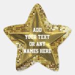 Estrella modificada para requisitos particulares pegatinas forma de estrella personalizadas