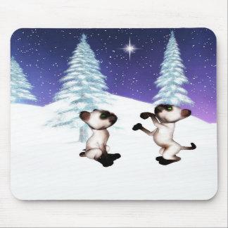 estrella Mousepad del navidad del gatito Alfombrillas De Raton