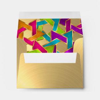 Estrella multicolora de RSVP del oro de David Sobres
