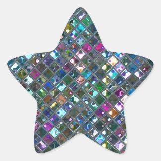 Estrella multicolora del pegatina de 2 impresiones