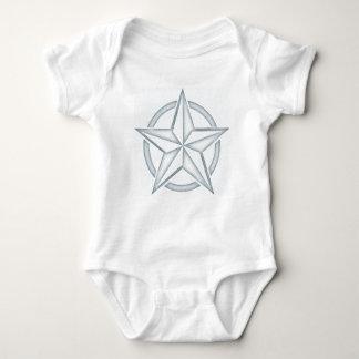 Estrella náutica azul clara playera