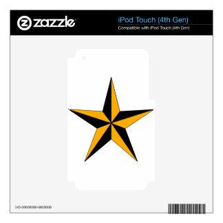 Estrella náutica de Halloween iPod Touch 4G Skins