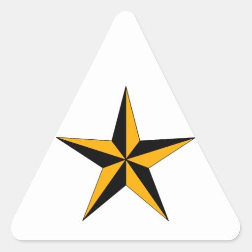 Estrella náutica de Halloween Pegatina Triangular