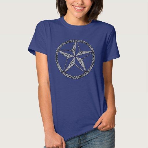 Estrella náutica de lujo t-shirts