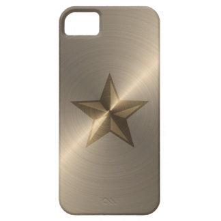 Estrella náutica del oro funda para iPhone SE/5/5s
