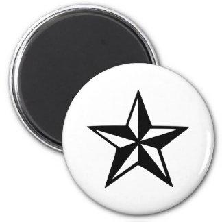 Estrella náutica imán redondo 5 cm