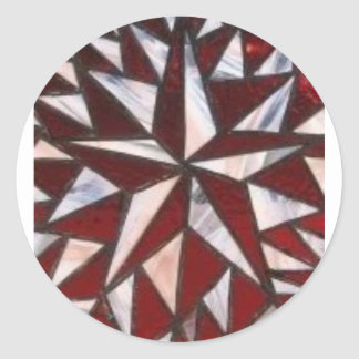 Estrella náutica pegatina redonda