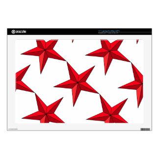 Estrella náutica roja 43,2cm portátil calcomanía