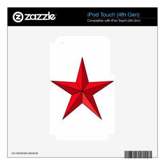 Estrella náutica roja iPod touch 4G skin