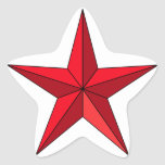 Estrella náutica roja calcomanías forma de estrellas personalizadas