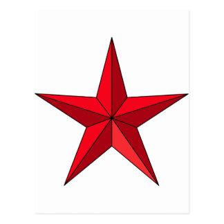 Estrella náutica roja postales