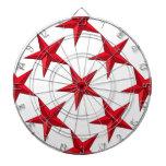 Estrella náutica roja tabla dardos
