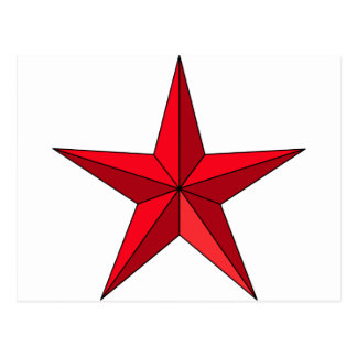 Estrella náutica roja tarjetas postales