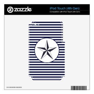 Estrella naval calcomanías para iPod touch 4G