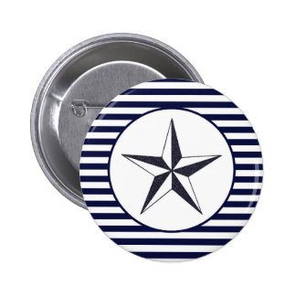 Estrella naval pin redondo de 2 pulgadas