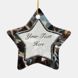 Estrella negra de la gema adorno navideño de cerámica en forma de estrella