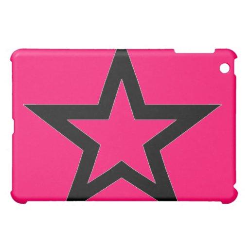 Estrella negra en la caja rosada de la mota del iP