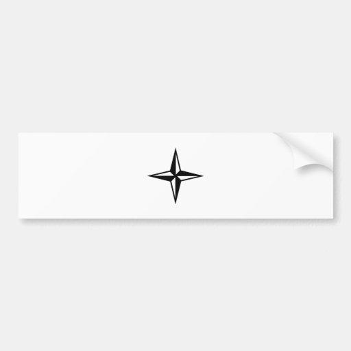 Estrella negra etiqueta de parachoque