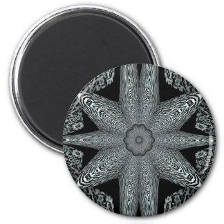 Estrella negra imán redondo 5 cm