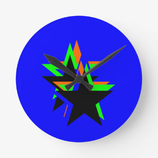 Estrella negra reloj de pared