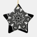 estrella negra tribal adorno
