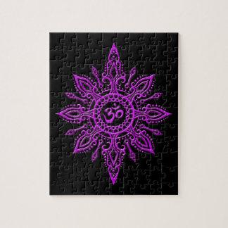 Estrella negra y púrpura de Aum Puzzle
