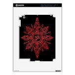 Estrella negra y roja de Aum iPad 3 Pegatina Skin