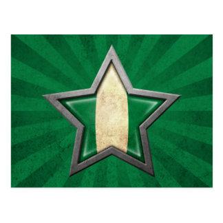 Estrella nigeriana de la bandera con los rayos de  postal