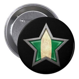Estrella nigeriana de la bandera en negro pins
