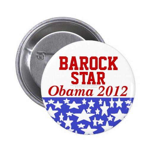 Estrella Obama 2012 de Barock Pin Redondo 5 Cm