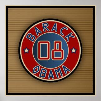 Estrella Obama del círculo Posters