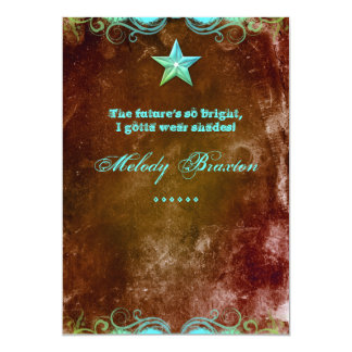 Estrella occidental de Brown azul de la invitación