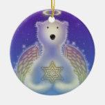 Estrella Onrament de la tenencia del oso polar Ornaments Para Arbol De Navidad