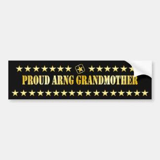 Estrella orgullosa de la abuela de ARNG Etiqueta De Parachoque
