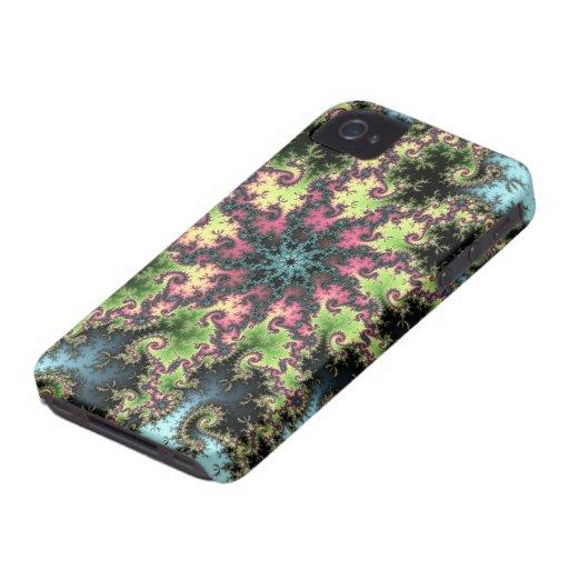 Estrella oriental - arte colorido del fractal que  iPhone 4 fundas