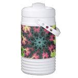 Estrella oriental - arte colorido del fractal que enfriador de bebida igloo