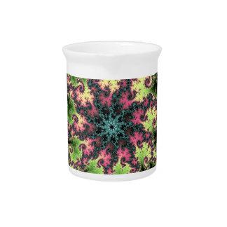 Estrella oriental - arte colorido del fractal que  jarra