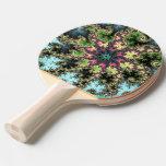 Estrella oriental - arte colorido del fractal que pala de tenis de mesa