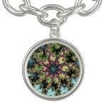 Estrella oriental - arte colorido del fractal que pulsera