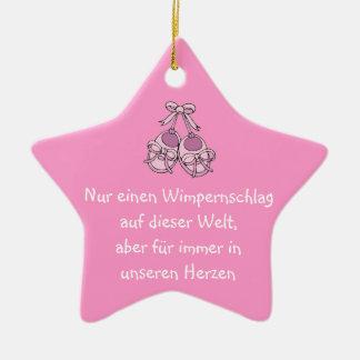 Estrella ornamento de propensión como recuerdo adorno navideño de cerámica en forma de estrella