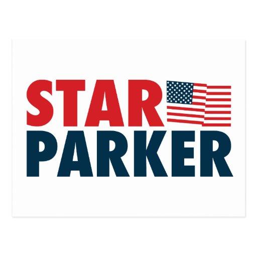 Estrella Parker patriótico Postales