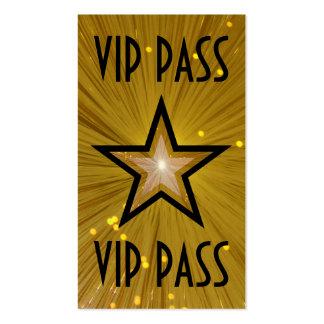 """Estrella """"parte posterior del oro del negro de la tarjetas de visita"""